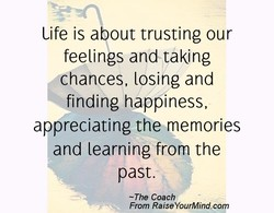 Life is a out trusting our 