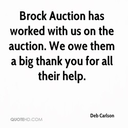 Brock Auction has 