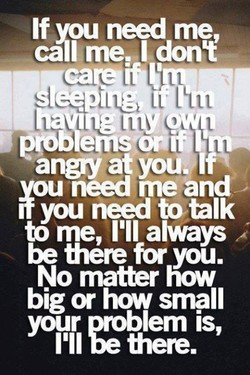 If vou need me, 