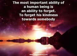 The most important ability of 