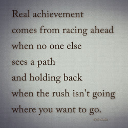 Real achievement 