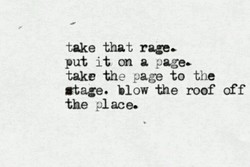 take that rage. 