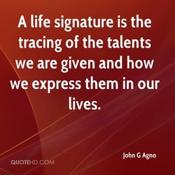 A life signature is the 