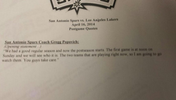 San Antonio Spurs vs. Los Anieles Lakers 
