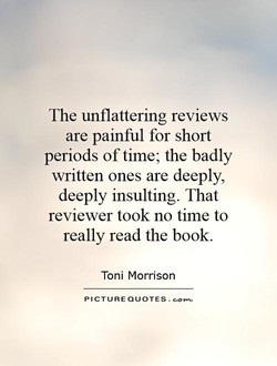 The unflattering reviews 
