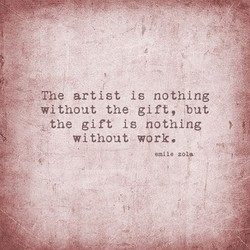 The artist is nothing 