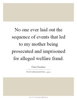 No one ever laid out the 