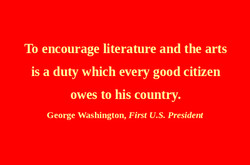 To encourage literature and the arts 