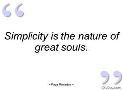 Simplicity is the nature of 