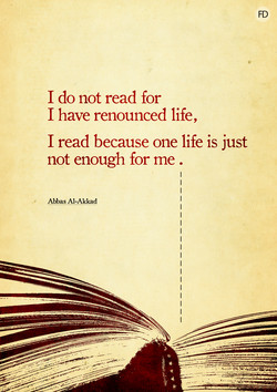 I do not read for 