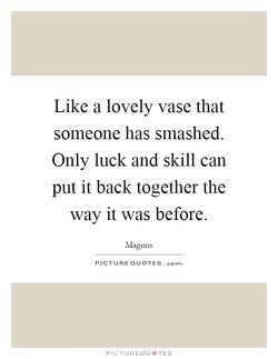Like a lovely vase that 