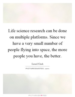 Life science research can be done 