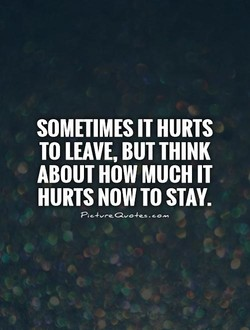 SOMETIMES IT HURTS 