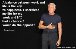 A balance between work and 