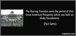 The Roaring Twenties were the period of that 