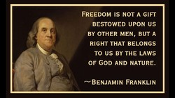 FREEDOM IS NOT A GIFT 