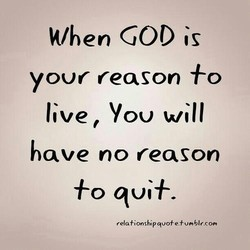 When GOD is 
