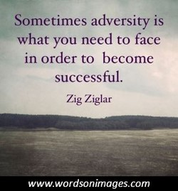 Sometimes adversity is 