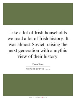 Like a lot of Irish households 