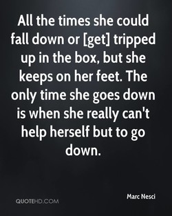 All the times she could 