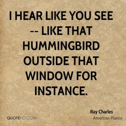 I HEAR LIKE YOU SEE 