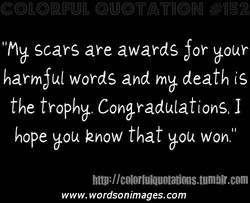 I'Mb scars are awards 