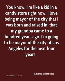 You know, I'm like a kid in a 