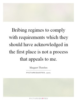 Bribing regimes to comply 