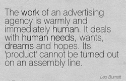 The work of an adverts ng 