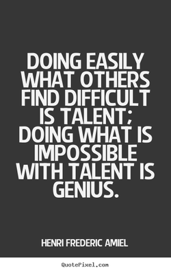 DOING EASILY 