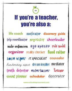 If you're a teacher, 