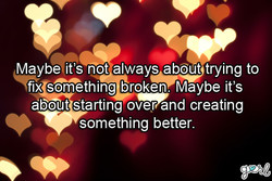 Maybeiit's not always about trying to 