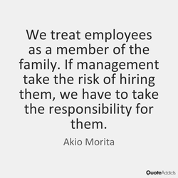 We treat employees 