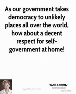 As our government takes 