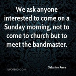 We ask anyone 