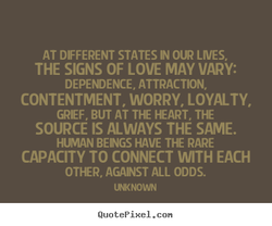 AT DIFFERENT STATES IN OUR LIVES, 