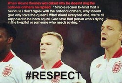 When Wayne Rooney was asked why he doesn't sing he 