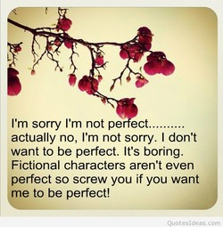 I'm sorry I'm not pe ect.......... 