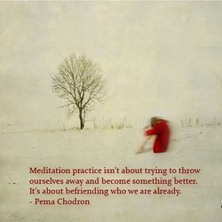 Meditation practice isn't about trying to throw 