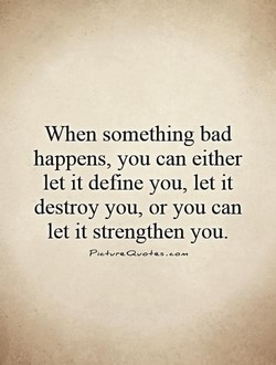 When something bad 