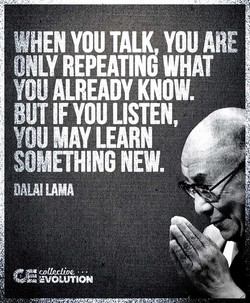 WHEN YOU TALK you ARE 