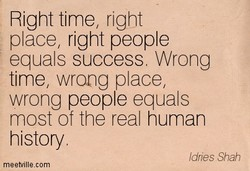 Right time, right 