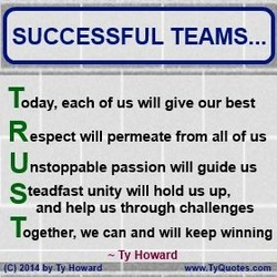 SUCCESSFUL TEAMS... 