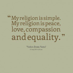My religion is simple. 