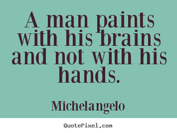 A man paints 