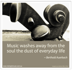 Music washes away from the 