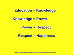 Education = Knowledge 