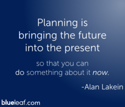 Planning is 