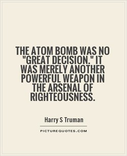 THE ATOM BOMB WAS NO