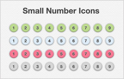 Small Number Icons